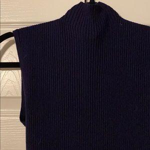 Mock neck sleeveless top
